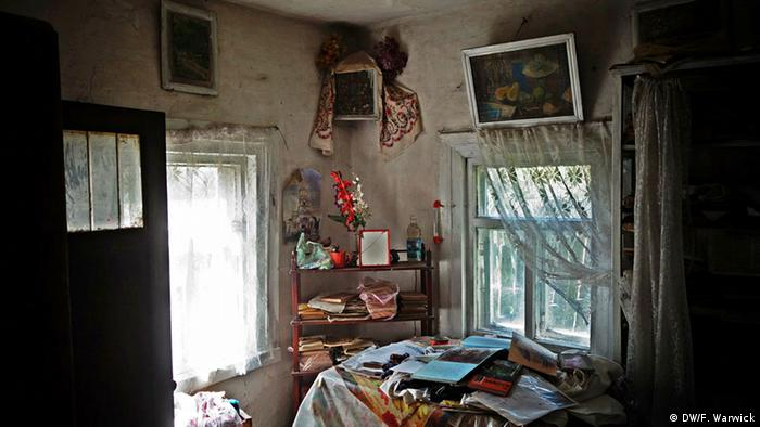 An abandoned living room