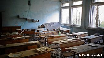 Πόλη-φάντασμα: εγκαταλελειμμένο σχολείο στον οικισμό Πρίπιατ, κοντά στον αντιδραστήρα του Τσερνομπίλ