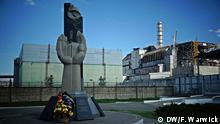 Ukraine Region Tschernobyl Sperrzone Sarkophag Ruine Denkmal