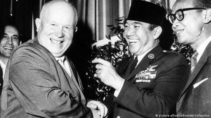 New York UN Treffen Nikita Chruschtschow Sukarno
