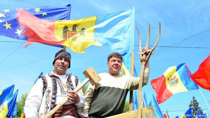 Protest gegen die Regierung in der Hauptstadt der Republik Moldau