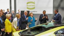 US-Präsident Obama und Kanzlerin Merkel bei HARTING (c) Harting