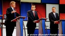 Donald Trump Ted Cruz John Kasich Debatte TV