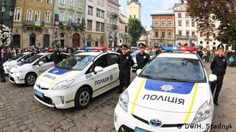 Ukraine Die neuen Polizeikräfte in Lemberg