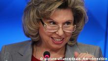 Russland Moskau Menschenrechtsbeauftragte Tatjana Moskalkowa