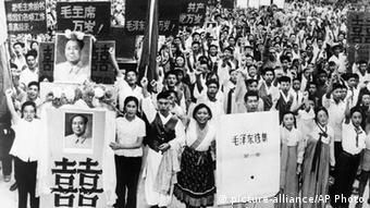 China Demonstration Kulturrevolution Lehrer Studenten