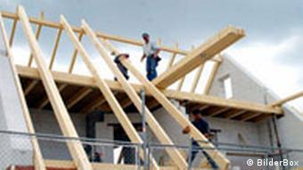 Einfamilienhaus Baustelle