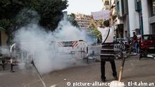 Kairo Proteste Ägypten Menschen Tränengas Demonstrant