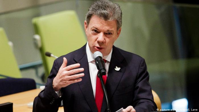 Kolumbien Juan Manuel Santos (picture-alliance/dpa/J. Lane)