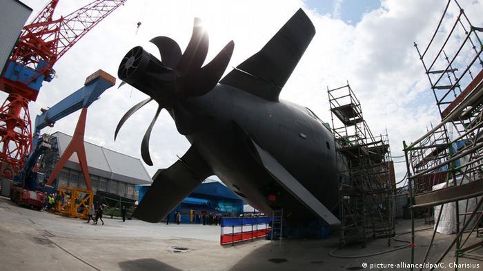 Производство подводных лодок на верфи ThyssenKrupp Marine Systems в Киле