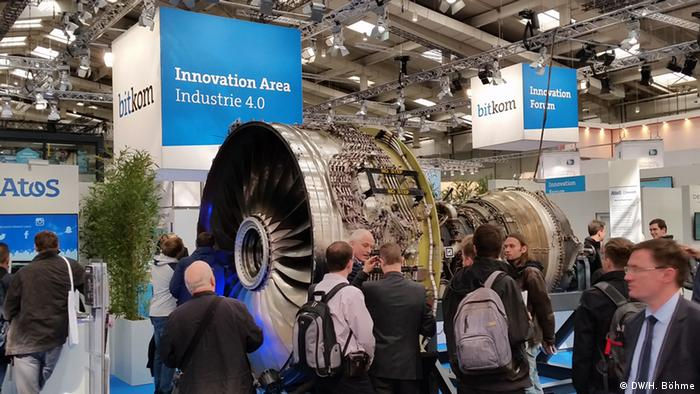 Hannover Messe - Industrie 4.0 und reale Turbine (DW/H. Böhme)