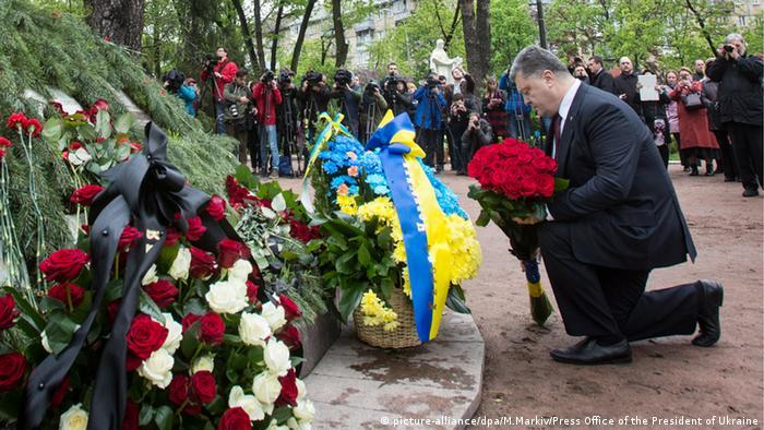 Ukraine Kiew Tschernobyl Opfer Gedenken Petro Poroschenko