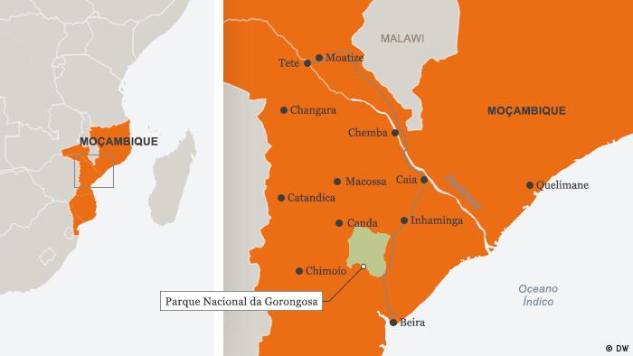 Karte Mosambik Chemba Portugiesisch