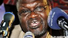 ARCHIV 2015 *** (150918) -- KHARTOUM, Sept. 18, 2015 -- South Sudan rebel leader Riek Machar attends a press conference in Khartoum, Sudan, on Sept. 18, 2015. South Sudan rebel leader Riek Machar on Friday accused the government army of systematic violation of the ceasefire by attacking the rebel positions, particularly in the oil-rich Upper Nile State. ) SUDAN-KHARTOUM-REBEL-LEADER-GOVERNMENT-CEASEFIRE VIOLATION-ACCUSATION HohammedxBabiker PUBLICATIONxNOTxINxCHN Khartoum Sept 18 2015 South Sudan Rebel Leader Riek Machar Attends a Press Conference in Khartoum Sudan ON Sept 18 2015 South Sudan Rebel Leader Riek Machar ON Friday Accused The Government Army of systematic Violation of The Ceasefire by attac king The Rebel POSITIONS particularly in The Oil Rich Upper Nile State Sudan Khartoum Rebel Leader Government Ceasefire Violation accusation PUBLICATIONxNOTxINxCHN (c) imago/Xinhua