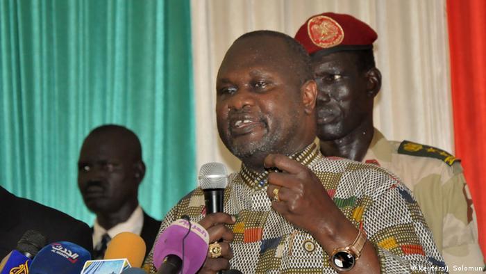Riek Machar unmittelbar nach seiner Ankunft in Südsudans Hauptstadt Juba (Foto: Reuters/J. Solomun)