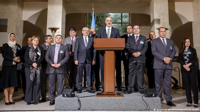 Bashar al-Jaafari aus Syrien Schweiz Genf (picture-alliance/dpa/S.Di Nolfi)
