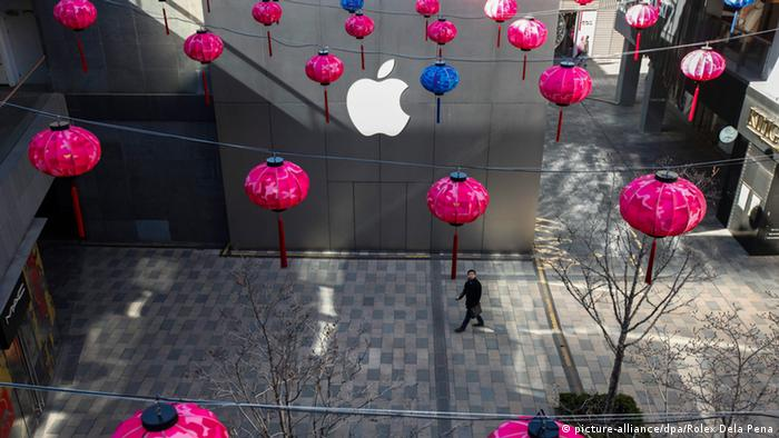 Apple-Store in Peking mit Lampions (Archivbild: dpa)
