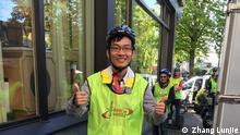 Titel: Mitglied Zhang Lunjie Beschreibung: Vom 20. bis 24. April 2016 fand in Bonn das Jahrestreffen von Mensa in Deutschland statt. Mensa ist der weltweite Verein für hochbegabte Menschen. Mit 120.000 Mitgliedern aus allen Alters- und Bevölkerungsgruppen, davon 12.500 in Deutschland. Copyright: Zhang Lunjie