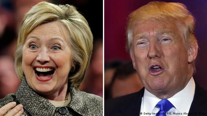 USA Vorwahlen Hillary Clinton und Donald Trump
