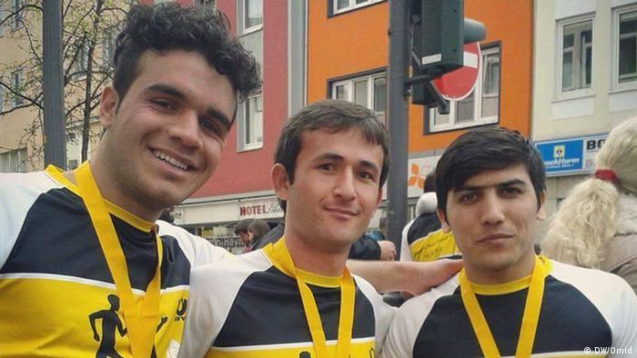 Deutschland Afghanische Flüchtlinge laufen Marathon in Bonn