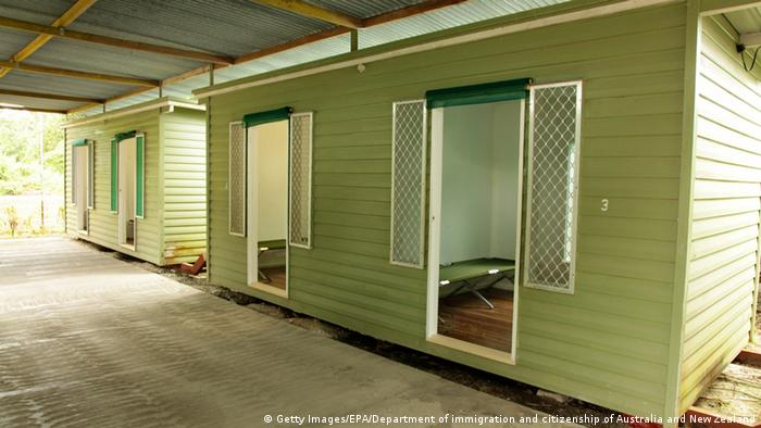Rooms at the detention center on Manus Island, Papua New Guinea.