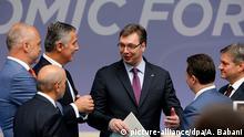 Albanien Tirana Premierminister Aleksandar Vucic bei Vienna Economic Forum