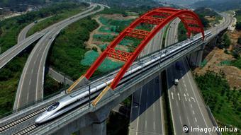 China Fuzhou CRH Schnellzug Zugnetz Ausbau