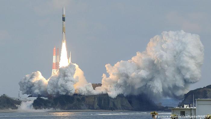 Japan Tanegashima Space Center Raketenstart