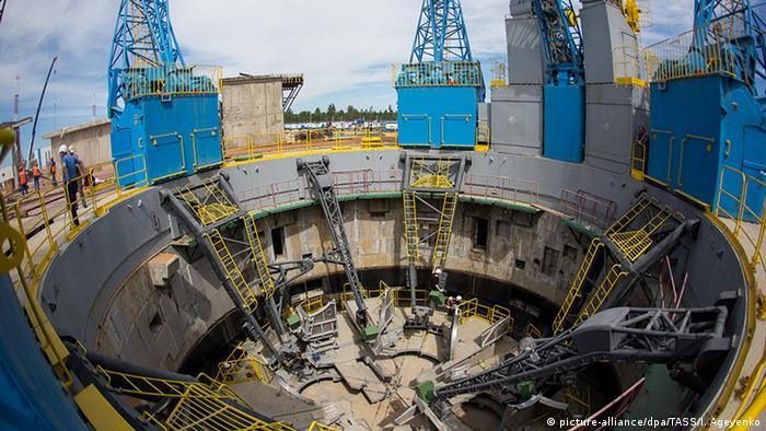 Russland Wostotschny Kosmodrom Startrampe