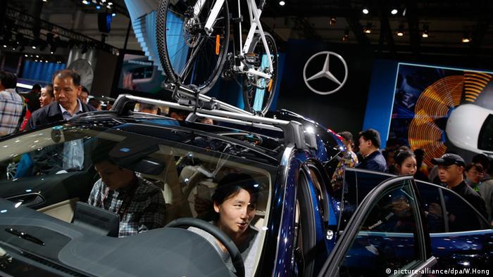 Chinese testing Mercedes car