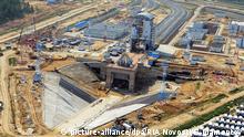 ARCHIV 2015 *** 2683964 08/21/2015 Construction of Vostochny space center near Uglegorsk village in the Amur Region. Sergey Mamontov/RIA Novosti (c) picture-alliance/dpa/RIA Novosti/S. Mamontov