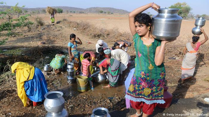Indien Telangana Trockenheit Wassermangel (Getty Images/AFP/N. Seelam)
