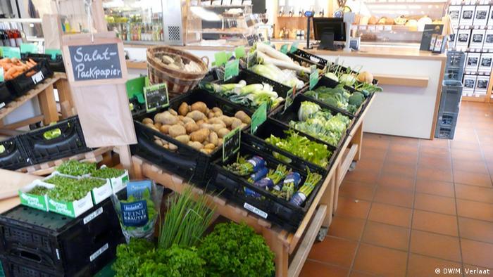 Gemüseauslage Freikost Deinet in Bonn (Foto: DW, M.Verlaat)