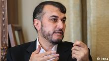 Hossein Amir-Abdollahian ist der iranische Stellvertretender Außenminister, zuständig für die Regionen Nahost und Afrika. Copyright: Isna via Fariba Yaliath, DW Farsi