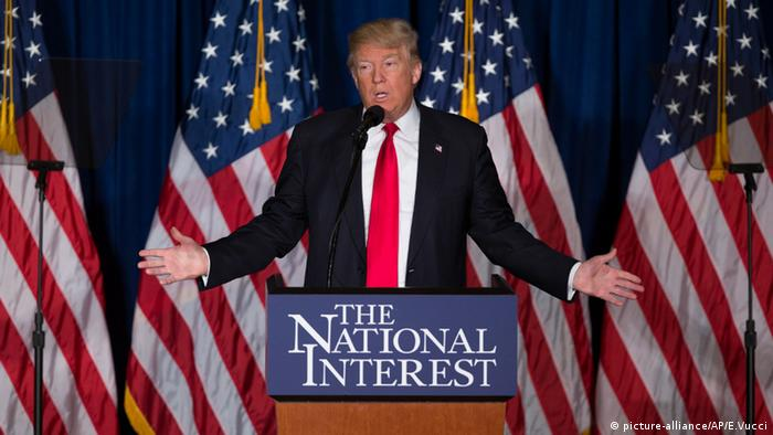 US presidential candidate Donald Trump outlines 'America first' foreign policy