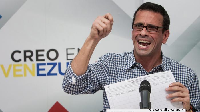 Henrique Capriles Radonski Venezuela Oppsition