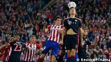 من مباراة نصف نهائي دوري الأبطال الموسم الماضي التي جمعت بايرن ميونيخ أتليتيكو مدريد