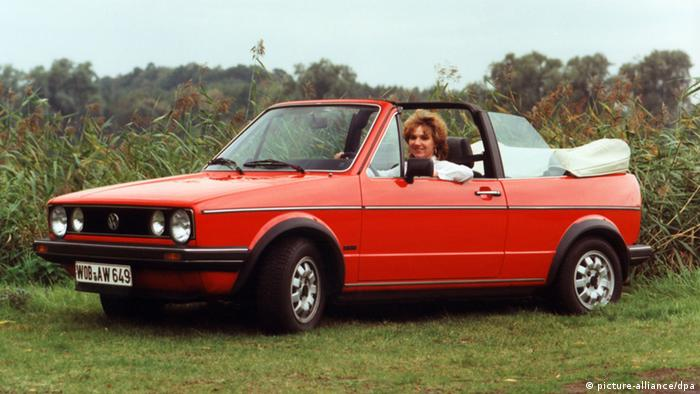 Volkswagen Golf Convertible, Copyright: picture-alliance/dpa