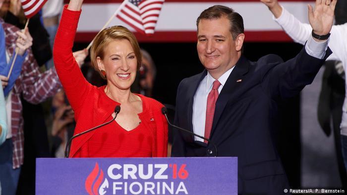 USA Vorwahlen Carly Fiorina und Ted Cruz