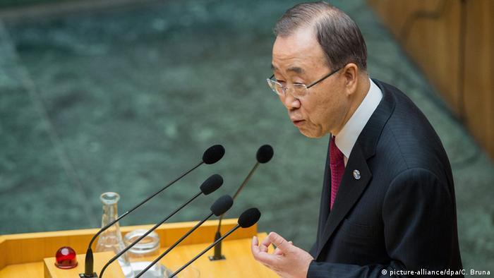 Österreich Wien Ban Ki-Moon hält Rede