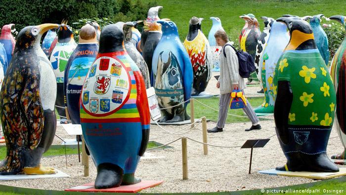 Скульптуры пингвинов в Вуппертале