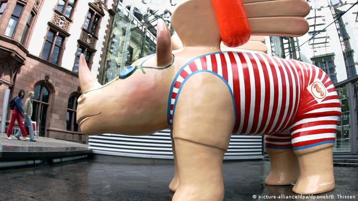 Крылатые носороги в Дортмунде