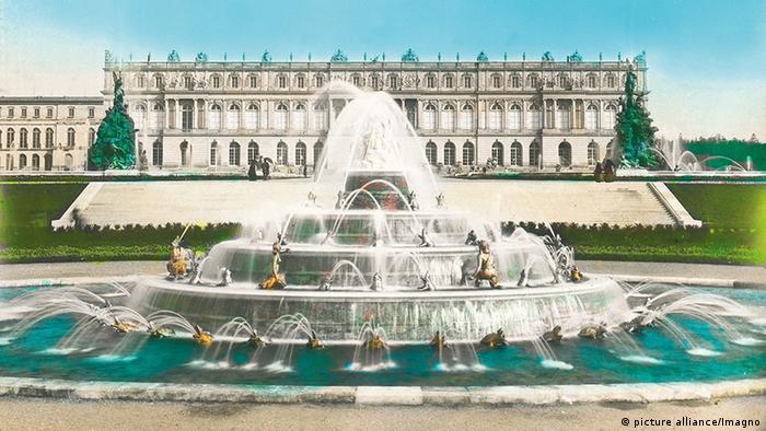 Дворец Херренкимзе на стеклянном диапозитиве 1900 года