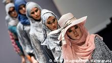 Malaysia Kuala Lumpur Modenschau für Muslime