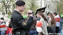 Belarus Oppositionelle Aktivisten in Misnk