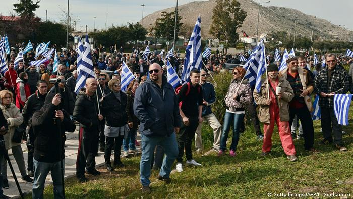 Group of Golden Dawn protesters