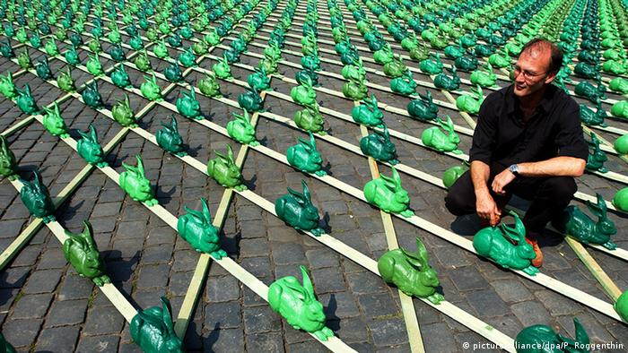 Зеленые зайцы в Нюрнберге