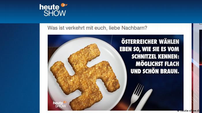 Screenshot heute-show Nazi Schnitzel