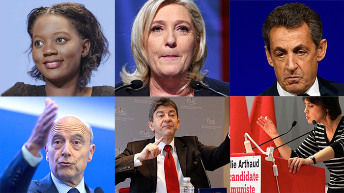 Kombobild französische Präsidentschaftskandidaten 2017