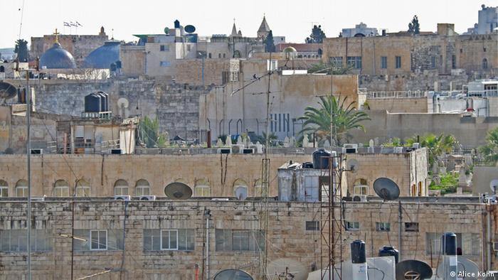 The view from the Qudscom office (photo: Alice Kohn)